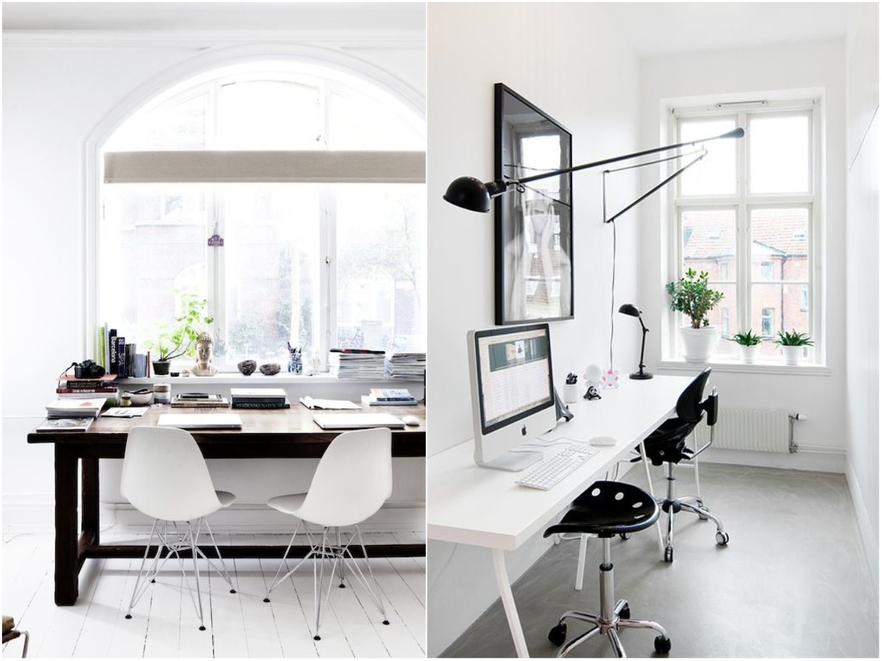 7 tips en dise o de oficinas peque as y modernas for Oficinas modernas blancas