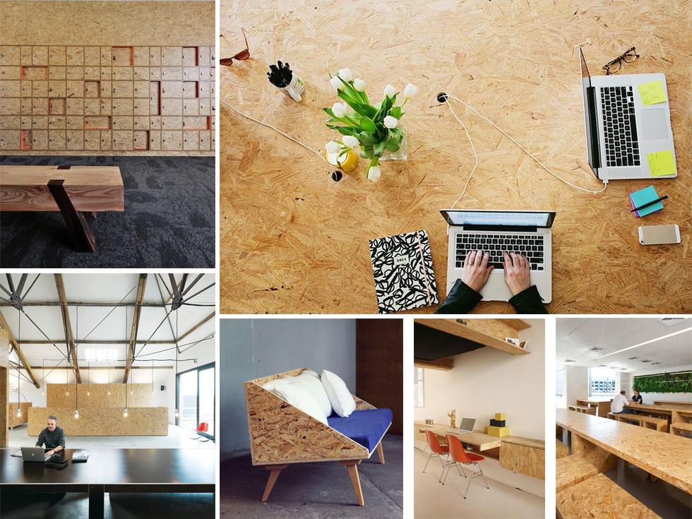 Decoraci n con paneles de madera osb tendencia for Decoracion de interiores con madera