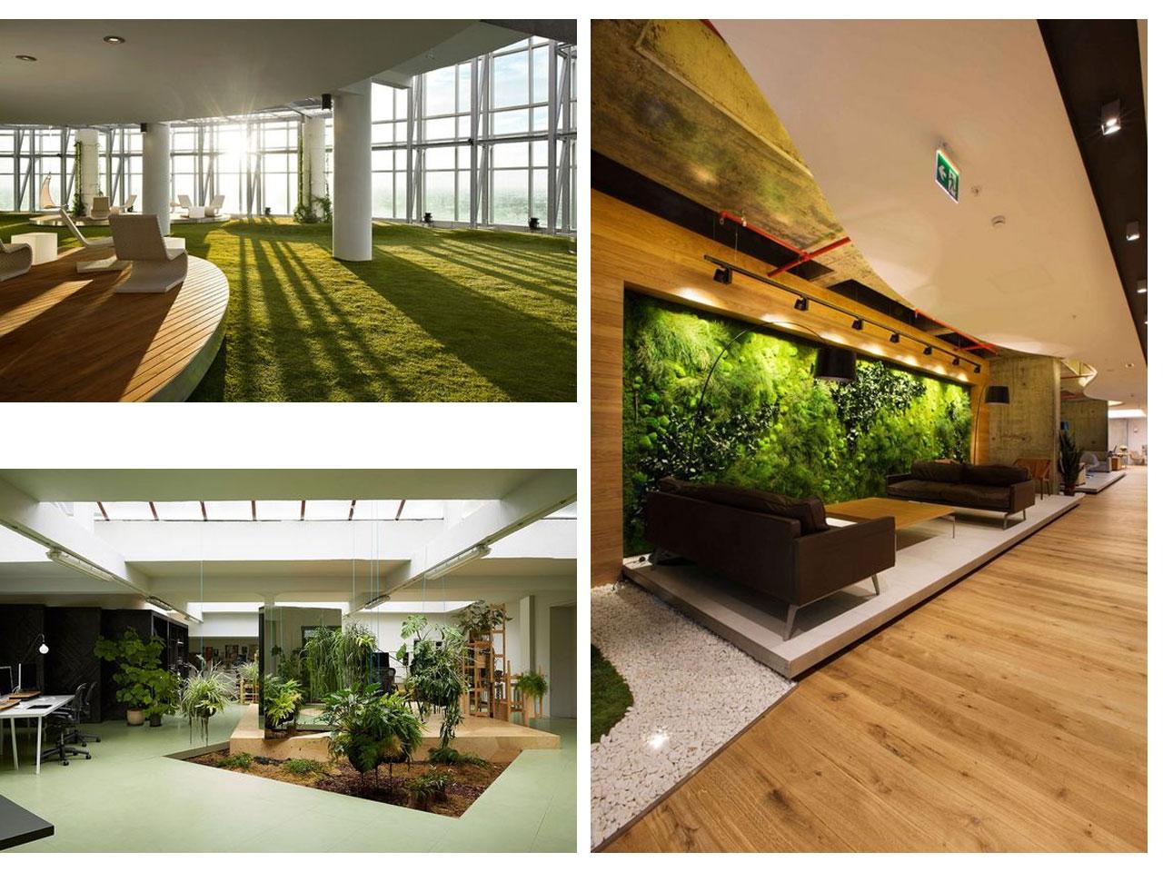 tendencias oficinas 2016 2017 dise o de interiores On diseño de jardines para oficinas