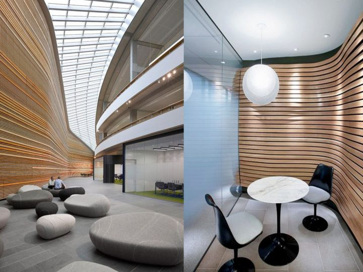 Sala moderna gris