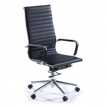 Slim - Sillón de oficina Slim alto ecopiel negro - Imagen 1
