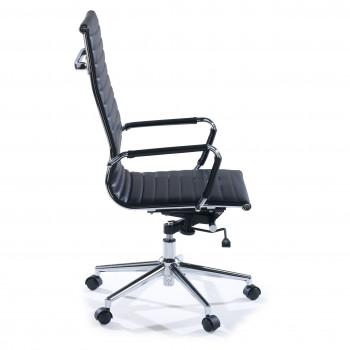 Slim - Sillón de oficina Slim alto ecopiel negro - Imagen 2