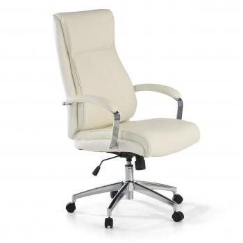 Tauro - Sillón de oficina Tauro, brazos tapizados  ecopiel Blanco - Imagen 1