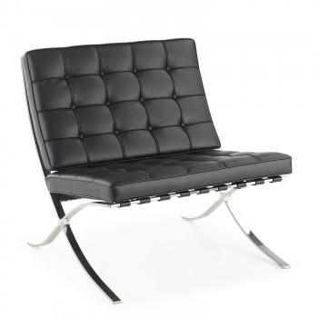 Barna - Sillon de espera de diseño Barna ecopiel negro - Imagen 1