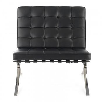 Barna - Sillon de espera de diseño Barna ecopiel negro - Imagen 2