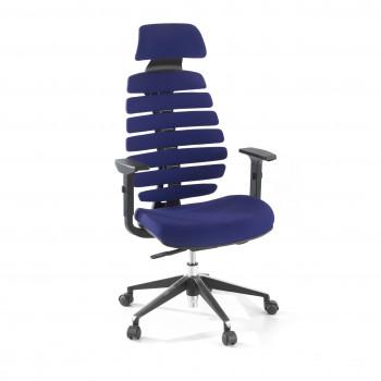 Spine - Silla de oficina Spine con reposacabezas azul - Imagen 1