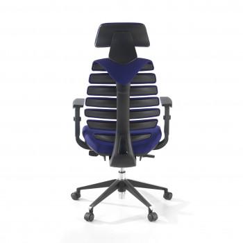 Spine - Silla de oficina Spine con reposacabezas azul - Imagen 2
