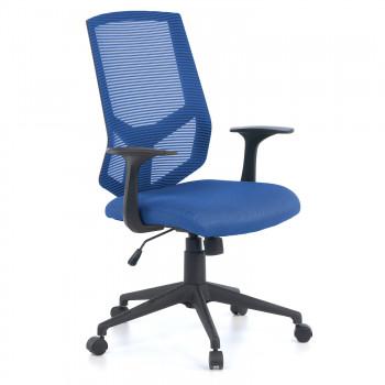 Air - Silla de escritorio giratoria Air, con brazos, red azul - Imagen 1
