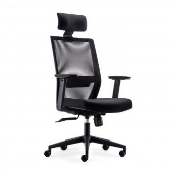 Axel - Silla de oficina Axel, espuma inyectada, con reposacabezas negro - Imagen 1