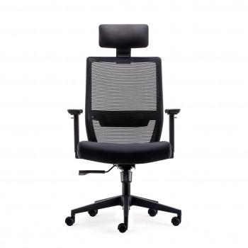 Axel - Silla de oficina Axel, espuma inyectada, con reposacabezas negro - Imagen 2