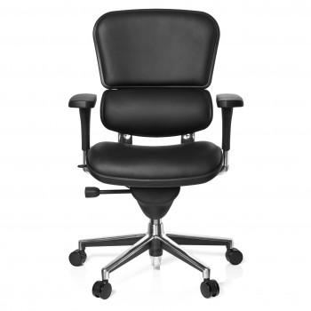 Keystone - Silla ergonómica Keystone, aluminio, sincro, Piel Negro - Imagen 2