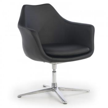 Manchester - Sillón de oficina giratorio Manchester, asiento espuma inyectada, negro - Imagen 1