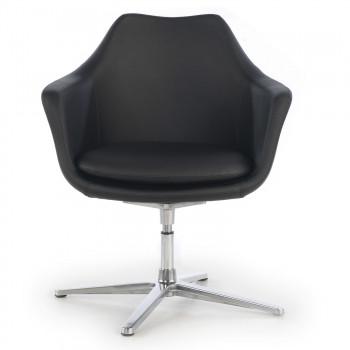 Manchester - Sillón de oficina giratorio Manchester, asiento espuma inyectada, negro - Imagen 2