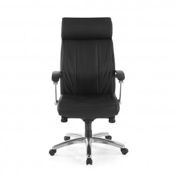 Convex - Sillón de oficina Convex, piel natural negro - Imagen 2