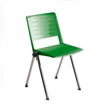 Replay - Silla confidente Replay, 4 patas Cromo verde - Imagen 1
