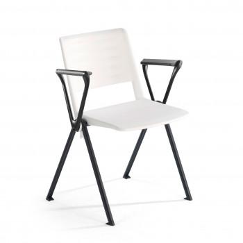 Replay - Silla confidente Replay, 4 patas con brazos Blanco - Imagen 1