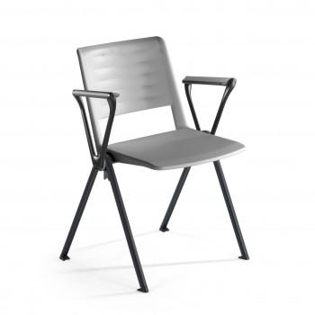 Replay - Silla confidente Replay, 4 patas con brazos gris - Imagen 1