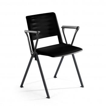 Replay - Silla confidente Replay, 4 patas con brazos negro - Imagen 1