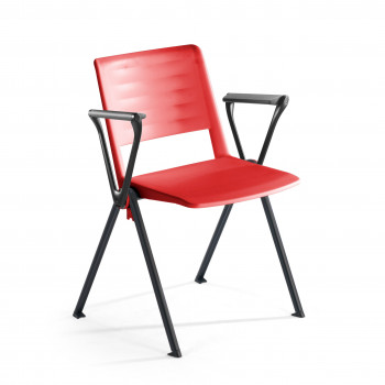 Replay - Silla confidente Replay, 4 patas con brazos rojo - Imagen 1