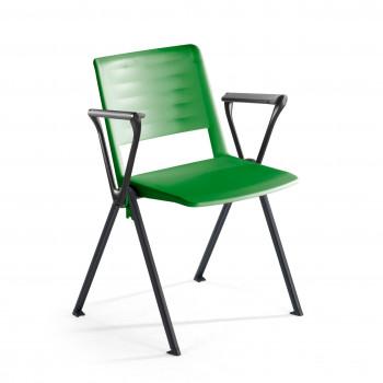 Replay - Silla confidente Replay, 4 patas con brazos verde - Imagen 1