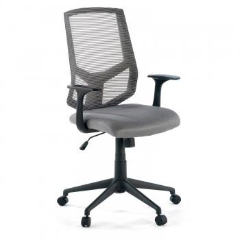 Air - Silla de escritorio giratoria Air, con brazos, red gris - Imagen 1