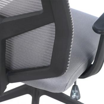 Air - Silla de escritorio giratoria Air, con brazos, red gris - Imagen 2