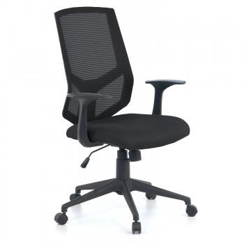 Air - Silla de escritorio giratoria Air, con brazos, red negro - Imagen 1