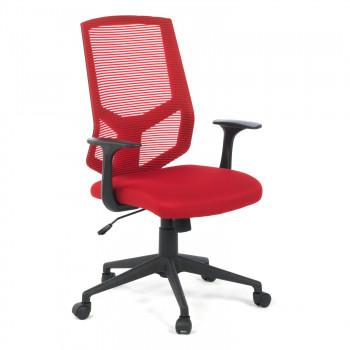 Air - Silla de escritorio giratoria Air, con brazos, red rojo - Imagen 1