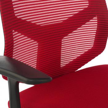 Air - Silla de escritorio giratoria Air, con brazos, red rojo - Imagen 2