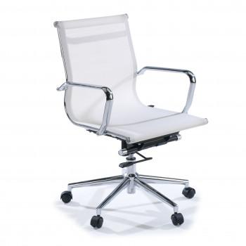 Slim - Sillón de oficina Slim red bajo blanco - Imagen 1