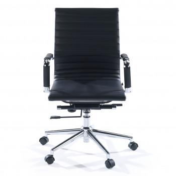 Slim - Sillón de oficina Slim bajo ecopiel negro - Imagen 2