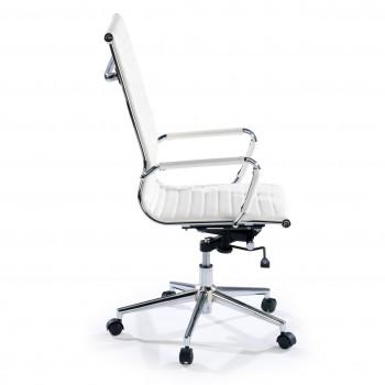 Slim - Sillón de oficina Slim alto ecopiel blanco - Imagen 2