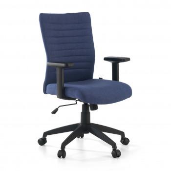 Parma - Silla de escritorio giratoria Parma, mecanismo basculante, Azul - Imagen 1