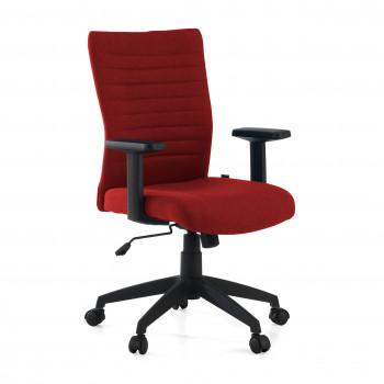 Parma - Silla de escritorio giratoria Parma, mecanismo basculante, Rojo - Imagen 1