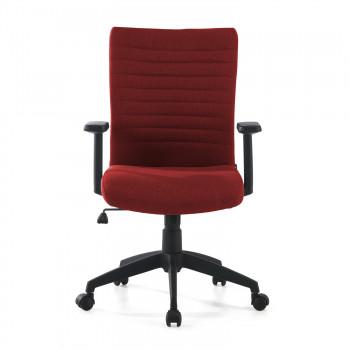 Parma - Silla de escritorio giratoria Parma, mecanismo basculante, Rojo - Imagen 2