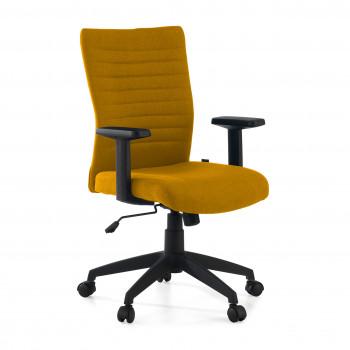 Parma - Silla de escritorio giratoria Parma, mecanismo basculante, amarillo - Imagen 1