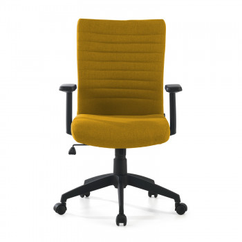 Parma - Silla de escritorio giratoria Parma, mecanismo basculante, amarillo - Imagen 2