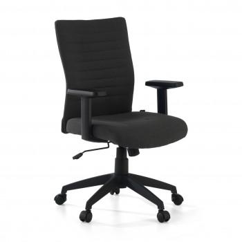 Parma - Silla de escritorio giratoria Parma, mecanismo basculante, Negro - Imagen 1