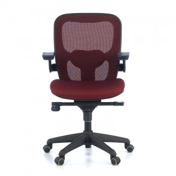 Gioconda - Silla ergonómica Gioconda, soporte lumbar, red rojo - Imagen 2