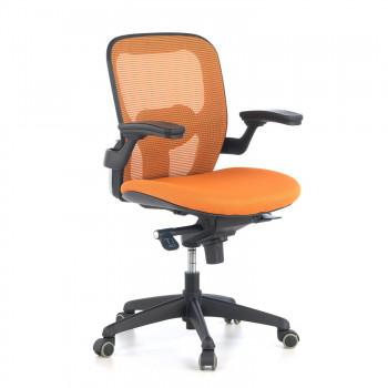 Gioconda - Silla ergonómica Gioconda, soporte lumbar, red naranja - Imagen 1