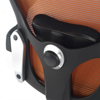 Gioconda - Silla ergonómica Gioconda, soporte lumbar, red naranja - Imagen 2