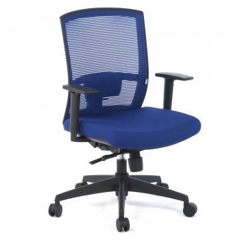 Kendo - Silla de oficina Kendo, brazos ajustables, red azul - Imagen 1