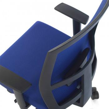 Kendo - Silla de oficina Kendo, brazos ajustables, red azul - Imagen 2