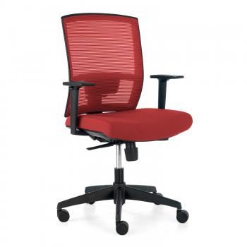 Kendo - Silla de oficina Kendo, brazos ajustables, red rojo - Imagen 1
