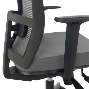 Kendo - Silla de oficina Kendo, brazos ajustables, red gris - Imagen 2