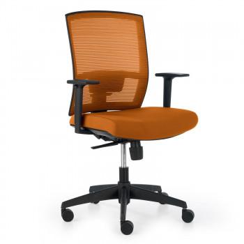 Kendo - Silla de oficina Kendo, brazos ajustables, red naranja - Imagen 1