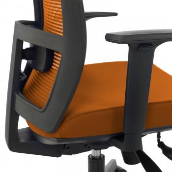 Kendo - Silla de oficina Kendo, brazos ajustables, red naranja - Imagen 2