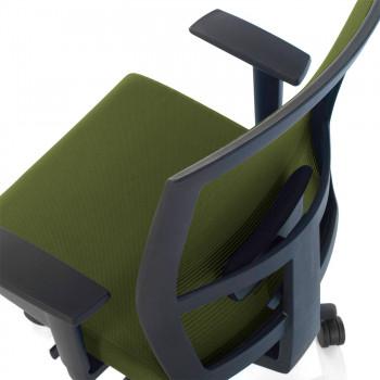 Kendo - Silla de oficina Kendo, brazos ajustables, red verde - Imagen 2