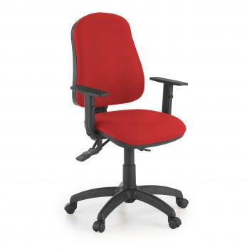 Eco2 - Silla de escritorio giratoria Eco2 Con Brazos Rojo - Imagen 1
