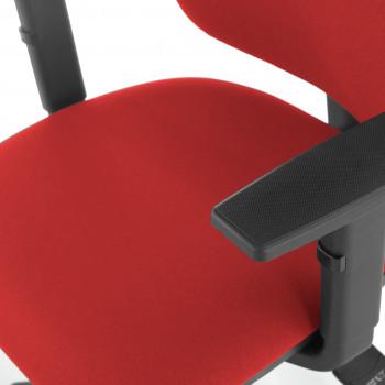 Eco2 - Silla de escritorio giratoria Eco2 Con Brazos Rojo - Imagen 2